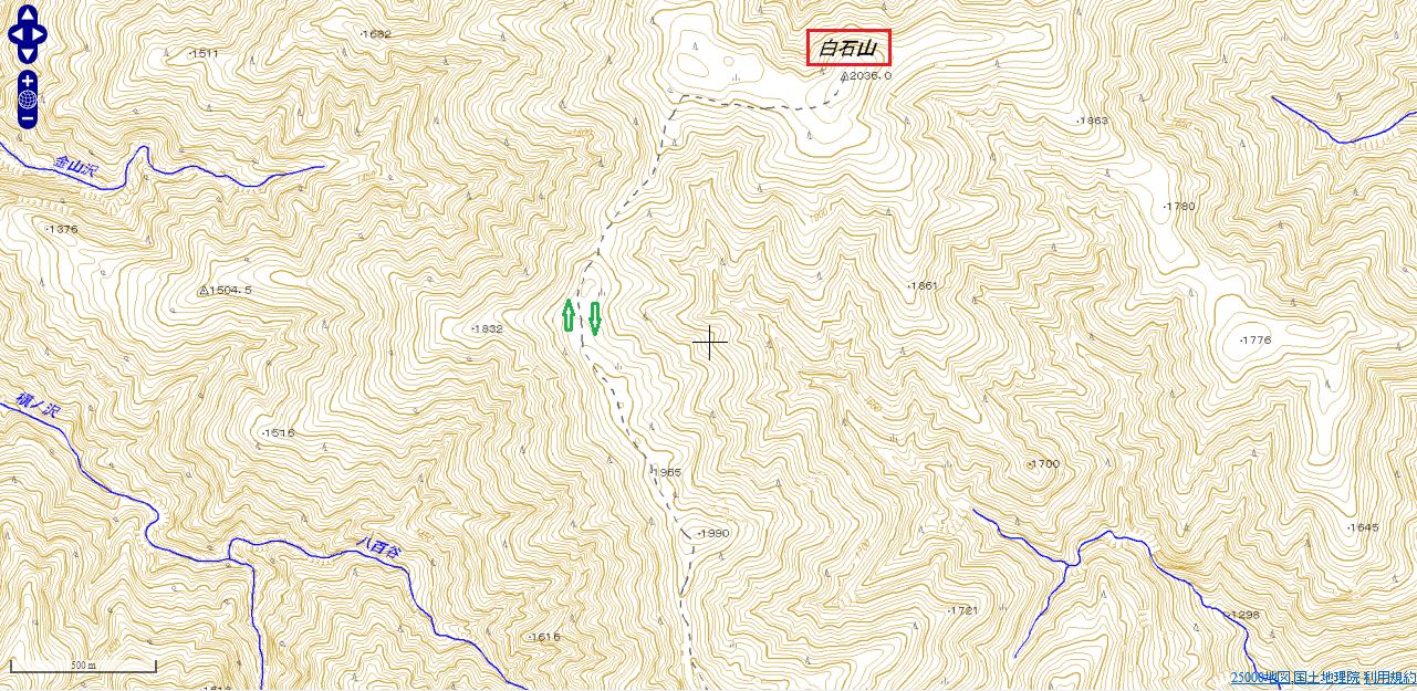 将監小屋から登る和名倉山(白石山)